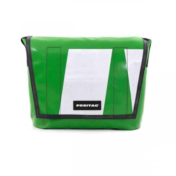 FREITAG Tasche F12 Dragnet grün & weiß Ansicht 1